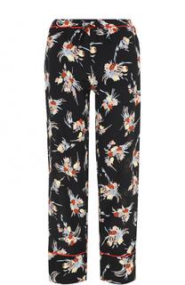 Шелковые брюки с цветочным принтом Marni