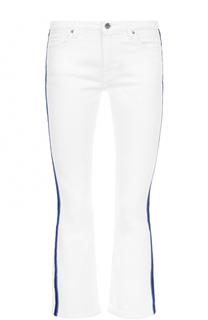 Укороченные расклешенные джинсы с лампасами Victoria by Victoria Beckham
