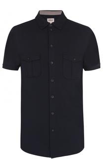Рубашка из вискозы с короткими рукавами Armani Collezioni