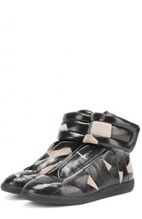 Высокие кожаные кеды Future с замшевой отделкой Maison Margiela