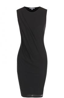 Приталенное мини-платье с драпировкой James Perse