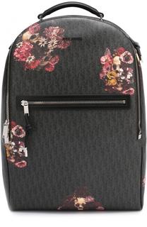 Рюкзак с контрастным принтом и отделкой из натуральной кожи Dior