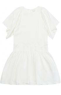 Платье свободного кроя с кружевной отделкой Chloé