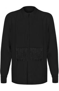 Шелковая рубашка с декоративной отделкой Givenchy