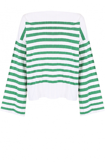 Пуловер свободного кроя в контрастную полоску Erika Cavallini