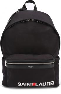 Текстильный рюкзак City с логотипом бренда Saint Laurent