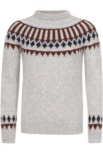 Шерстяной свитер с узором Ami