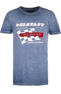 Хлопковая футболка с принтом Belstaff