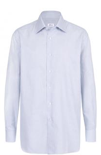 Сорочка из смеси хлопка и шелка Brioni