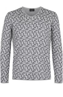 Пуловер из смеси вискозы и хлопка Giorgio Armani