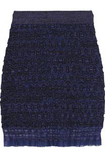 Вязаная мини-юбка с металлизированной отделкой Kenzo