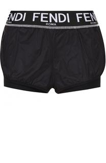 Спортивные мини-шорты с логотипом бренда Fendi