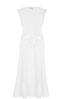 Вязаное приталенное платье с V-образным вырезом REDVALENTINO