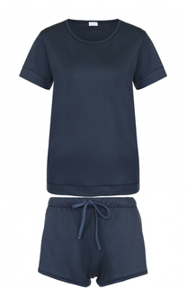 Хлопковая пижама с мини-шортами и футболкой Zimmerli