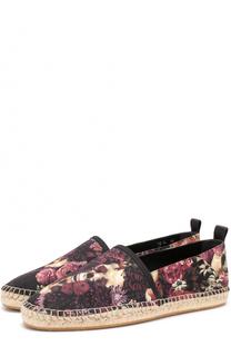 Текстильные эспадрильи с принтом Dior