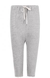 Укороченные хлопковые брюки с необработанным краем R13