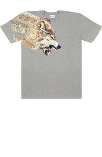 Хлопковая футболка с принтом Marcelo Burlon Kids of Milan