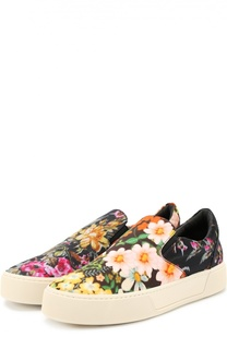 Слипоны из текстиля с цветочным принтом Balenciaga