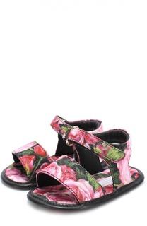 Сандалии с цветочным принтом Dolce & Gabbana