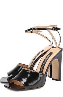 Кожаные босоножки с ремешком на щиколотке Sergio Rossi