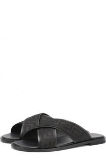 Сандалии с фактурной отделкой Versace