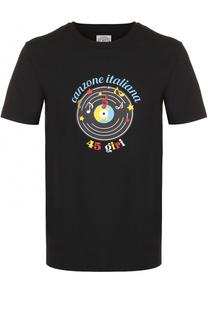 Хлопковая футболка с принтом Anitalian Theory