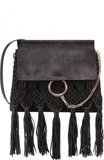 Замшевая сумка Faye с декоративным плетением Chloé