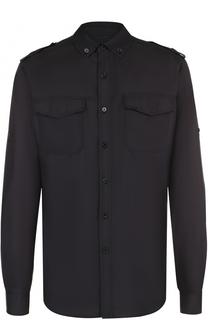 Шелковая рубашка с воротником button down Valentino