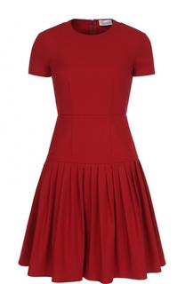 Приталенное мини-платье с плиссированной юбкой REDVALENTINO