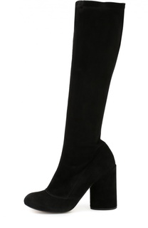Замшевые сапоги на массивном каблуке Marc Jacobs