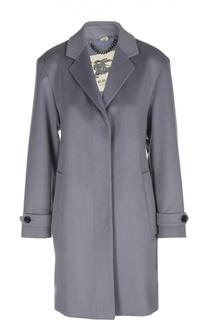 Кашемировое пальто прямого кроя с лацканами Burberry