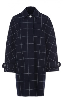Пальто прямого кроя в клетку с широкими рукавами Balenciaga