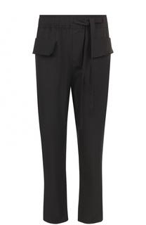 Хлопковые брюки прямого кроя с поясом на резинке Damir Doma