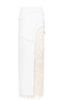 Многоярусная юбка-макси с бахромой Tom Ford