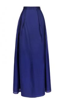 Шелковая юбка-макси с защипами St. John