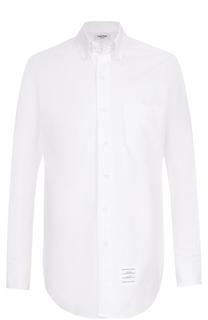 Хлопковая рубашка с воротником button down Thom Browne