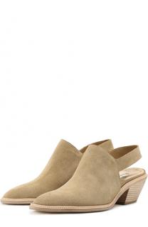 Замшевые ботинки на наборном каблуке Walter Steiger