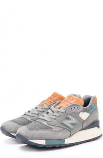 Замшевые кроссовки 998 с текстильной вставкой New Balance
