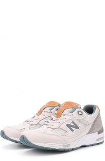 Комбинированные кроссовки 991 на шнуровке New Balance