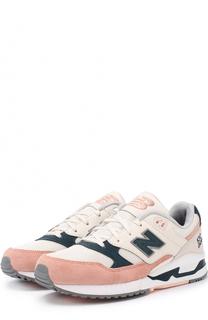 Замшевые кроссовки 530 с текстильной вставкой New Balance