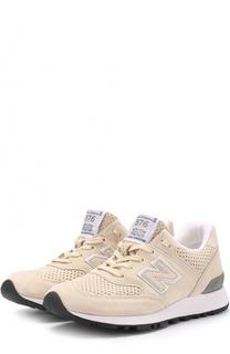 Замшевые кроссовки 576 с перфорацией New Balance