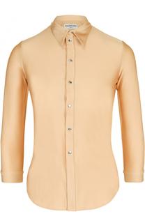 Приталенная блуза с укороченным рукавом Balenciaga