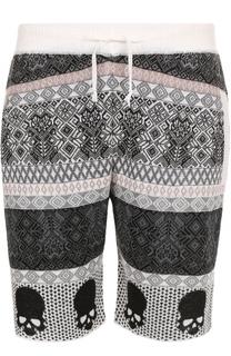 Льняные шорты свободного кроя с принтом Gemma. H