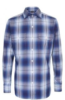 Хлопковая рубашка в клетку Tom Ford