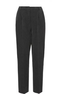 Укороченные брюки прямого кроя с защипами Armani Collezioni