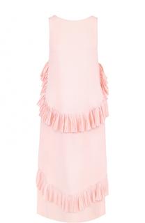 Платье без рукавов с плиссированными оборками No. 21