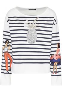 Тельняшка прямого кроя с декоративной отделкой Dolce & Gabbana