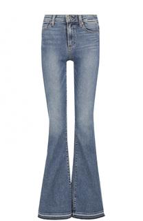 Расклешенные джинсы с потертостями Paige