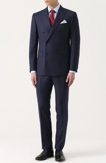 Шерстяной костюм с двубортным пиджаком Pal Zileri