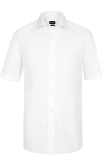 Хлопковая рубашка с короткими рукавами Ermenegildo Zegna